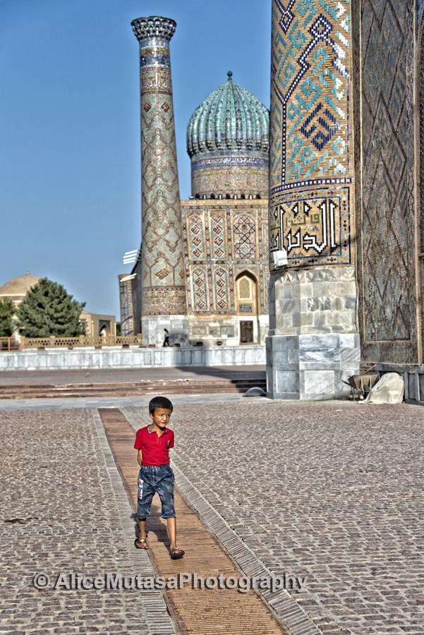 Small boy in the Registan