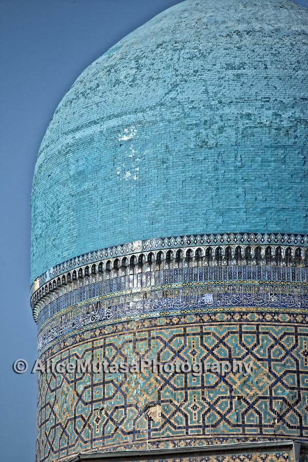 One of the domes of the Bibi Khanym Mausoleum, Samarqand
