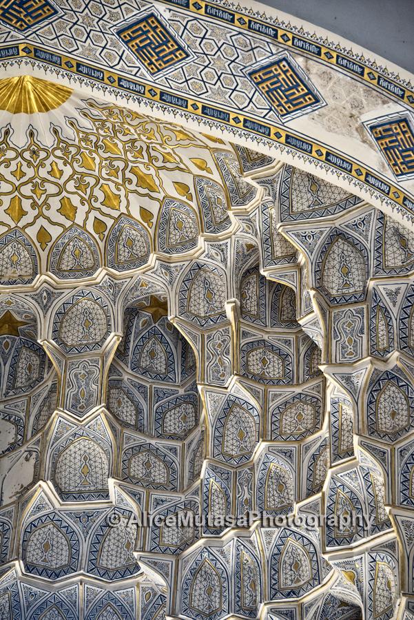 Inside the beautiful Hazrat Hizr Mosque