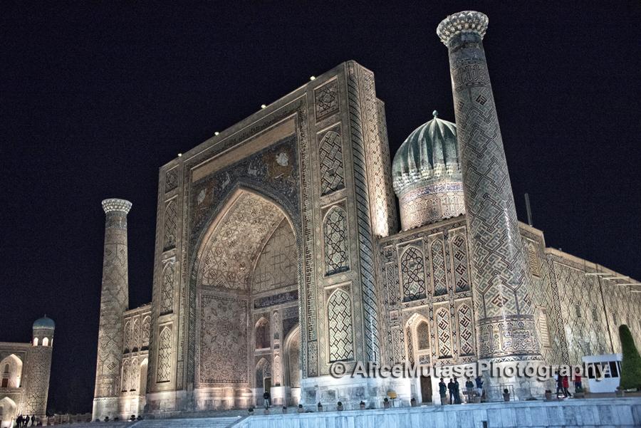 The Registan at night