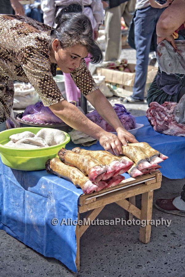 Tripe and trotters, Samarqand bazaar