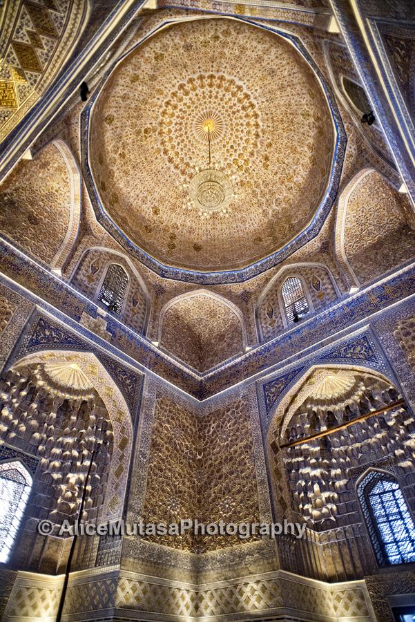 Astonishing interior of the Amir Temur mausoleum