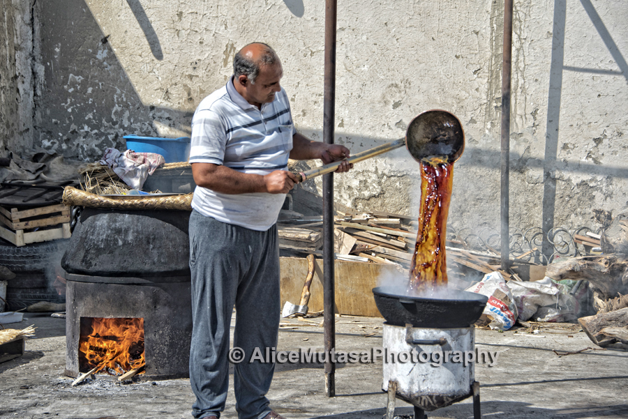 Making 'plov' in our local square, Bukhara