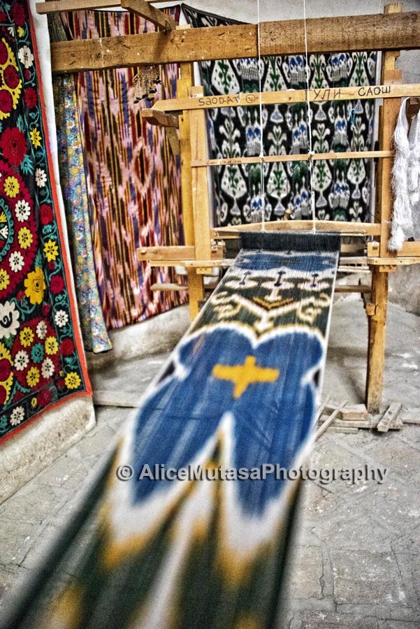 Making ikat, Bukhara