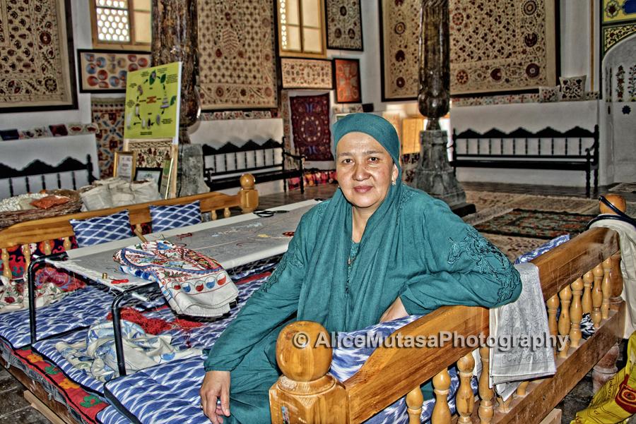 Nozima Ruziyeva; Master suzani maker, Bukhara