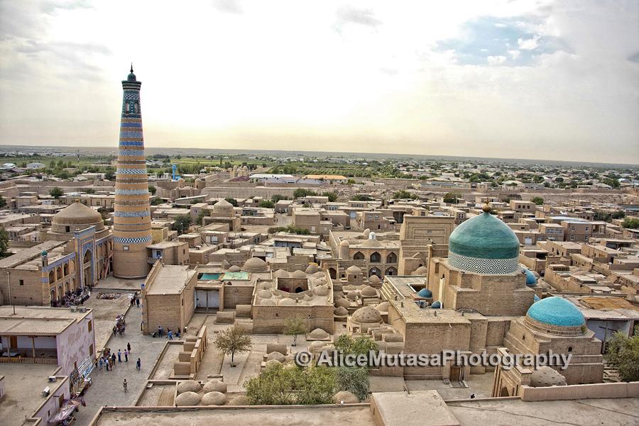 Dusk view of Khiva