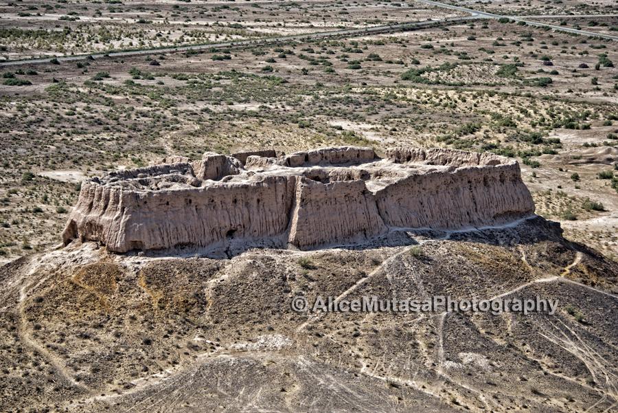 Ayaz Qala - ancient desert fortress in the Kyzylkum Desert