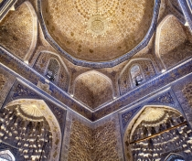 Astonishing interior of the Amir Temur mausoleum