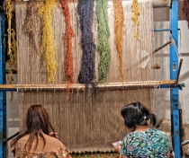 Weaving silk carpets with hand-dyed thread; the wonderful 'Khiva Silk Carpet Worksh