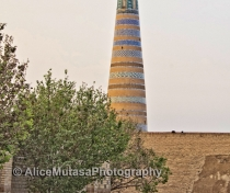 Khiva's near-empty streets at dawn