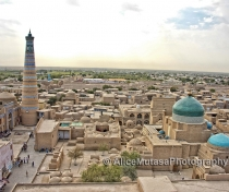 Dusk view of Khiva