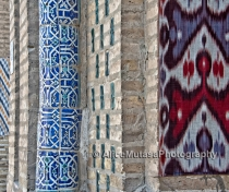 Ikat and old tiles