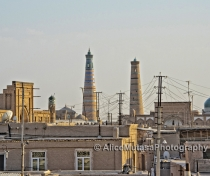 Another view of Khiva - with pylons!