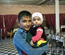 Jonabeg and Parizoda in their family café