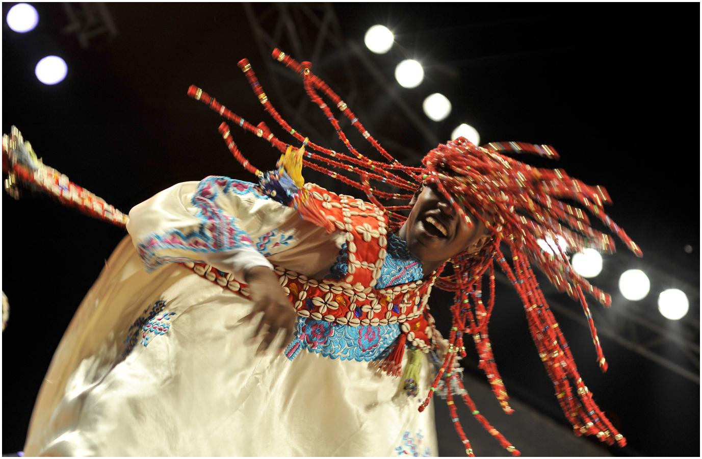 Festival Gnaoua; Morocco 2010 – Mahmoud Guinea troupe