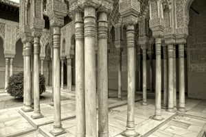 Court of the Lions, the Alhambra Palace, Grenada, Spain